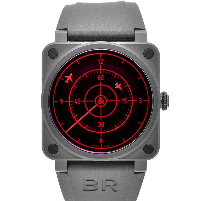 ベル&ロス BELL&ROSS BR03-92 レッドレーダー セラミック BR0392-RRDR-CE/SRB 世界999本限定 42mm USED 中古