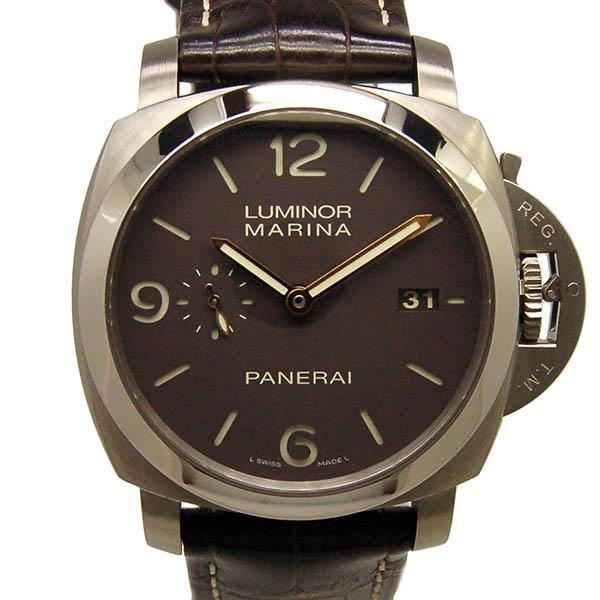 パネライ PANERAI ルミノール1950 3デイズ PAM00351 44mm チタン 革 USED 中古