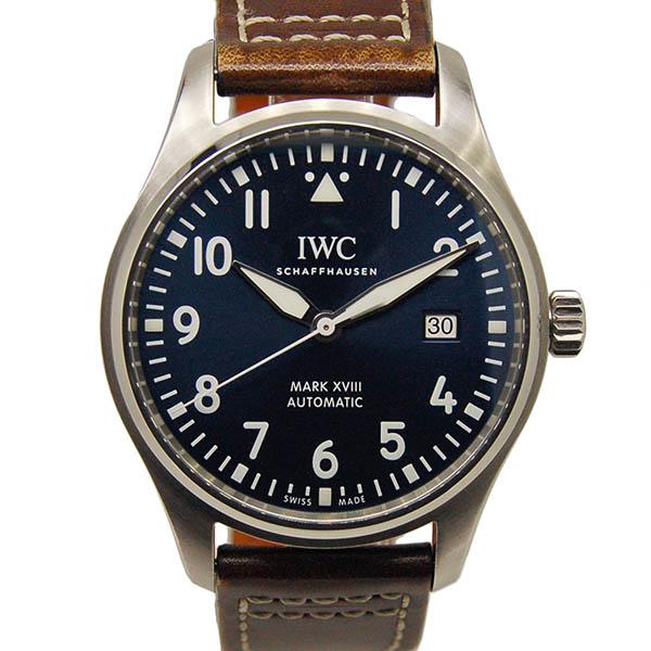 IWC パイロットウォッチ マーク18 プティ・プランス IW327004 ブルー 革ベルト USED 中古