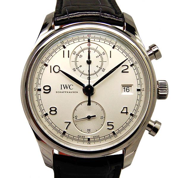 IWC ポルトギーゼ クロノグラフ クラシック IW390403 シルバー 革 未使用品