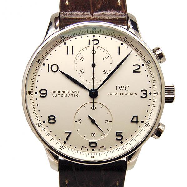 IWC インターナショナルウォッチカンパニー ポルトギーゼ クロノグラフ シルバー 青針 IW371417 自動巻 USED 中古