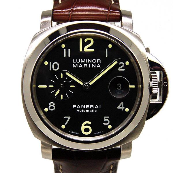 パネライ PANERAI ルミノールマリーナ 44mm PAM00164 SS ブラック USED 中古
