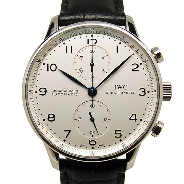 IWC ポルトギーゼ クロノグラフ IW371446 シルバー 青針 USED 中古