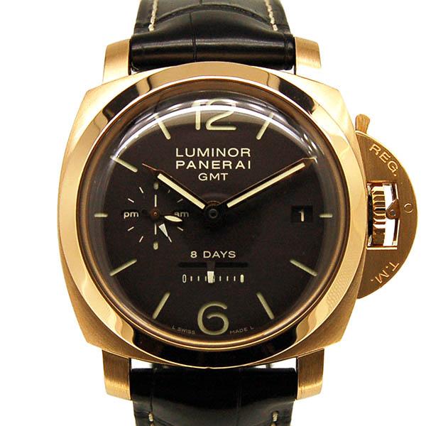 パネライ PANERAI ルミノール1950 8デイズ GMT オロロッソ PAM00576 18KRG ブラウン 手巻き USED 中古
