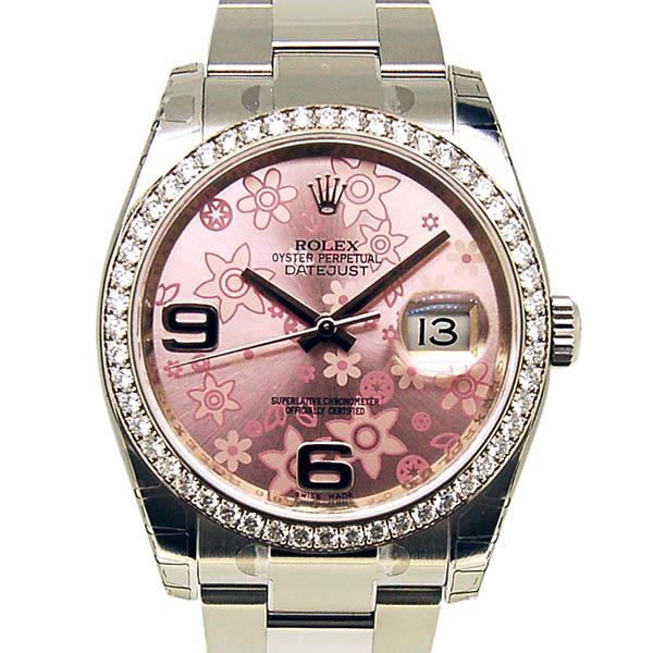 ロレックス ROLEX デイトジャスト Ref.116244 ダイヤモンド ピンクフラワー ランダム番 未使用品