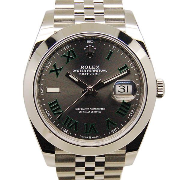 ロレックス ROLEX デイトジャスト41 126300 メンズ グレー/グリーンローマ 国内正規 未使用品