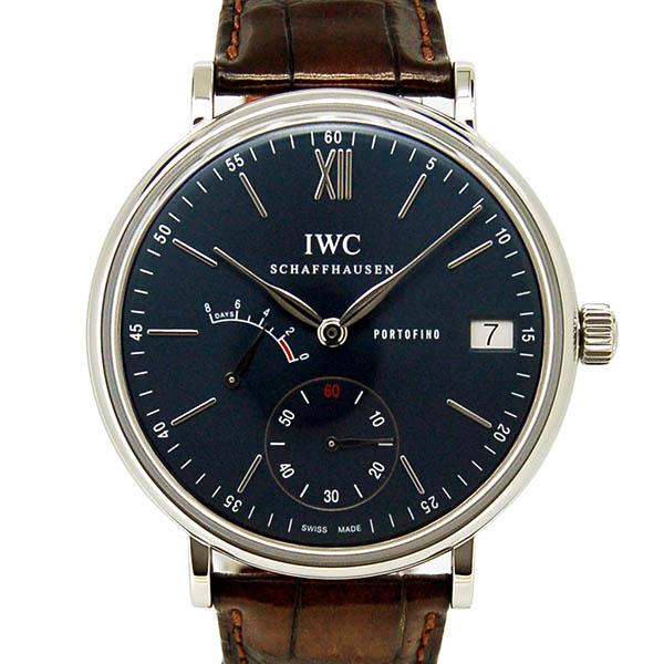 IWC ポートフィノ ハンドワインド 8デイズ IW510106 SS 45mm ブルー サントーニ革 USED 中古