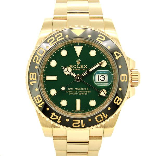 ロレックス ROLEX GMTマスター2 Ref.116718LN グリーン K18イエローゴールド 40mm USED 中古