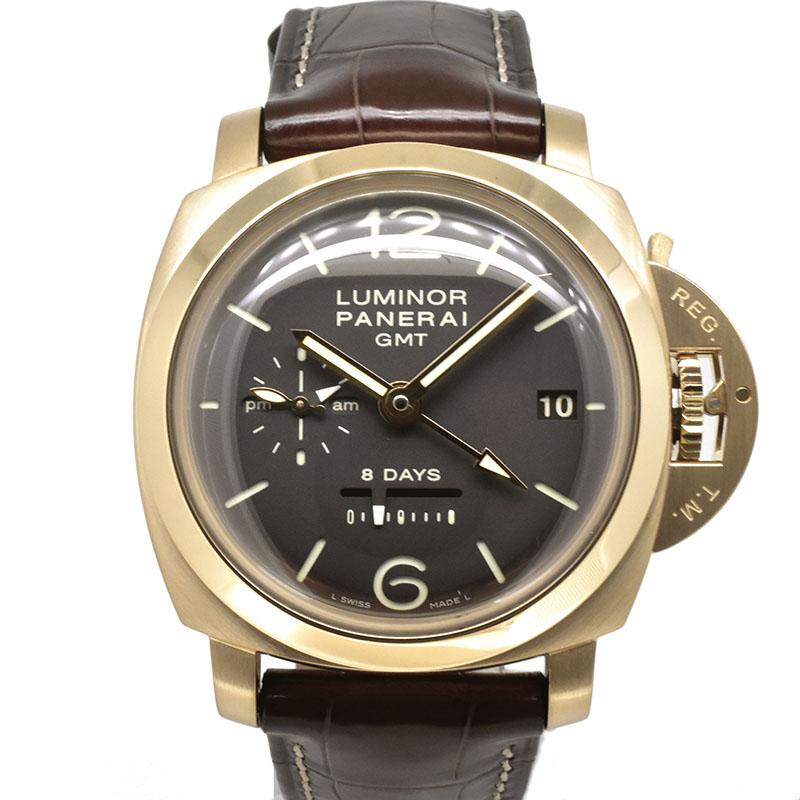 パネライ PANERAI ルミノール1950 8デイズ GMT PAM00289 18KPG ブラウン 手巻き 44mm L番 USED 中古