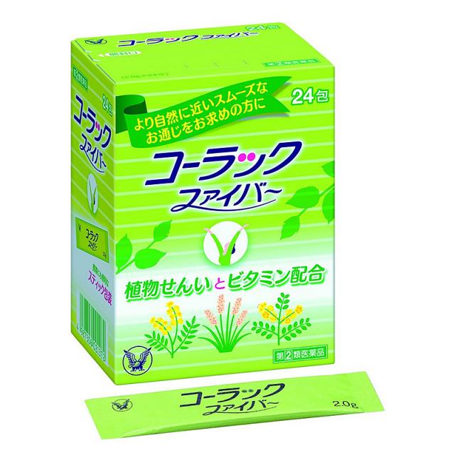 【指定第2類医薬品】大正 コーラックファイバー 24包
