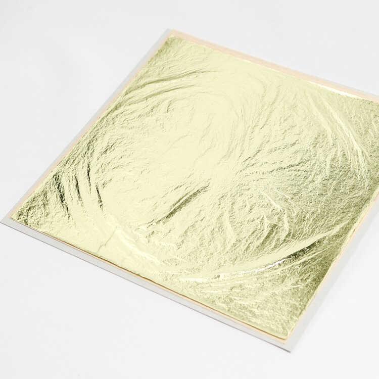 金箔三歩色 断切 3.5倍厚 150mm角