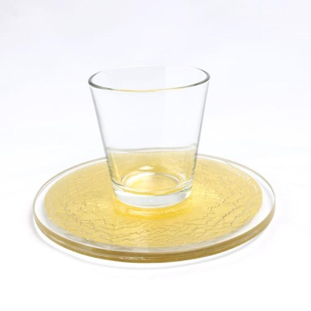 箔ガラス 丸トレー