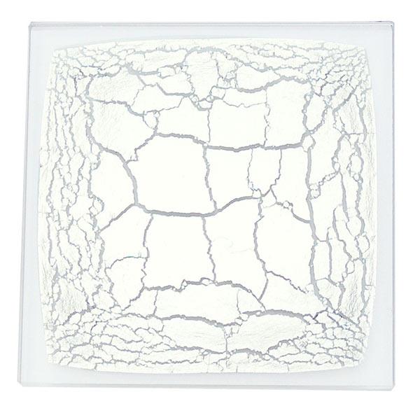 箔ガラスコースター 銀