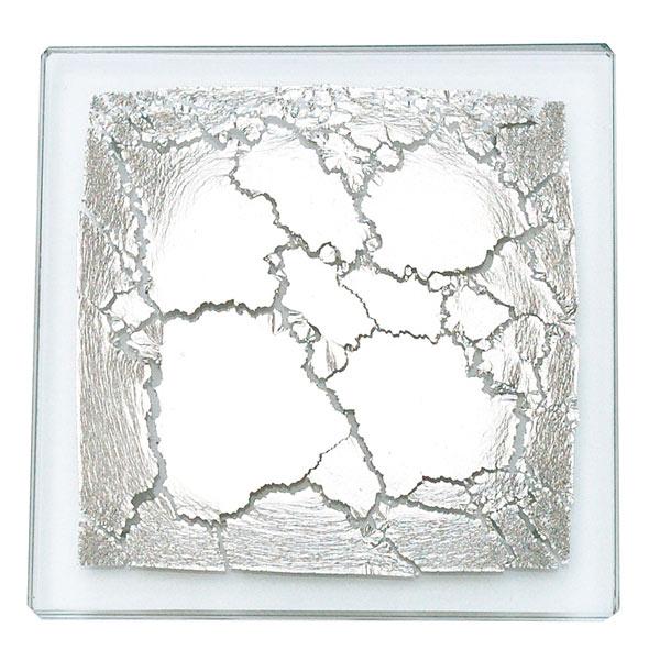 箔ガラスコースター(プラチナ)