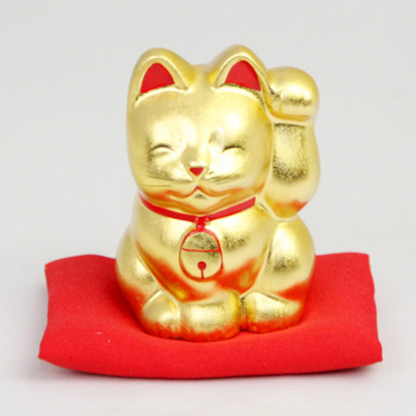 招き猫(金 左手)