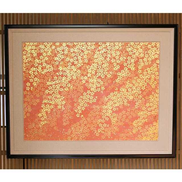 砂子絵 春(桜)