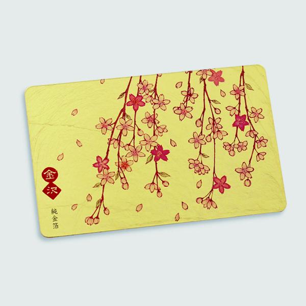 【ネコポス便可】金箔カードミラー