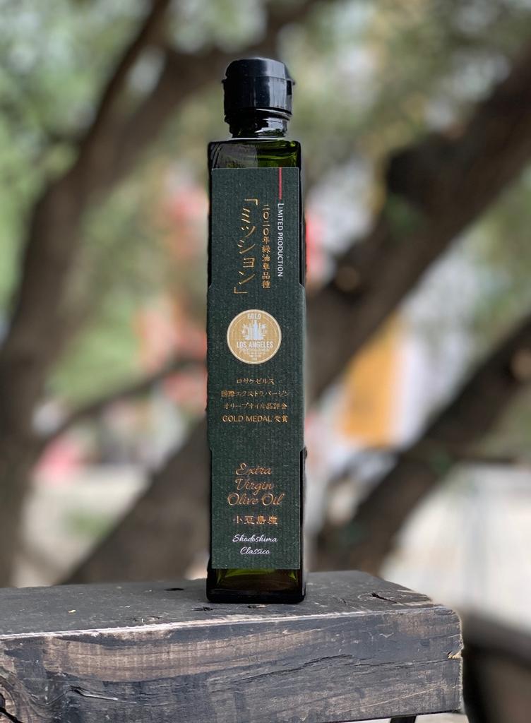 【2019年収穫分】小豆島産100パーセント EXバージンオリーブオイル緑油 (ミッション単品種) 180g