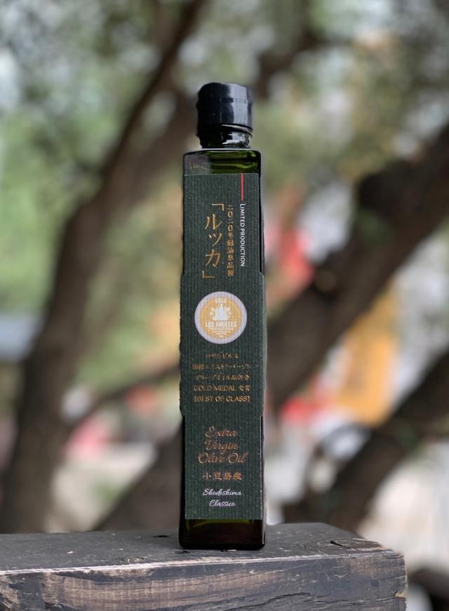 【2019年収穫分】小豆島産100パーセント EXバージンオリーブオイル緑油 (ルッカ単品種) 180g