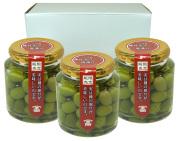 【2021年収穫分は、11月初旬より順次発送予定】【小豆島クラシコ】 オリーブの塩漬 100g入り/3個セット