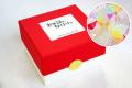 【500円以内の退職で配るお菓子】【紅白カラー】金扇の退職キャンディミニボックス