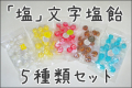 【小袋入り】【夏のちょっとしたプレゼントにも】『塩』文字塩飴 20個入り×5種類セット