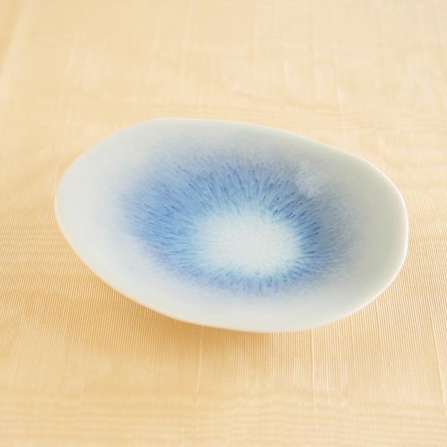 【和食器通販 金照堂】青磁結晶 三つ足小皿