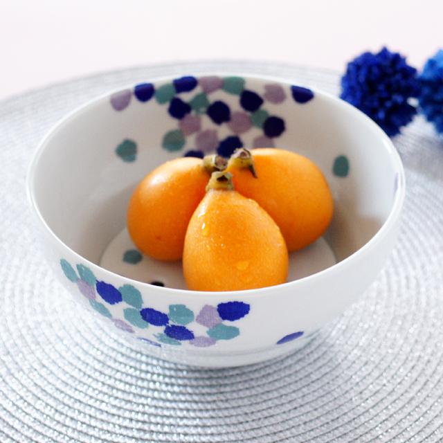 【和食器通販 金照堂】花吹雪 フルーツ鉢(青)