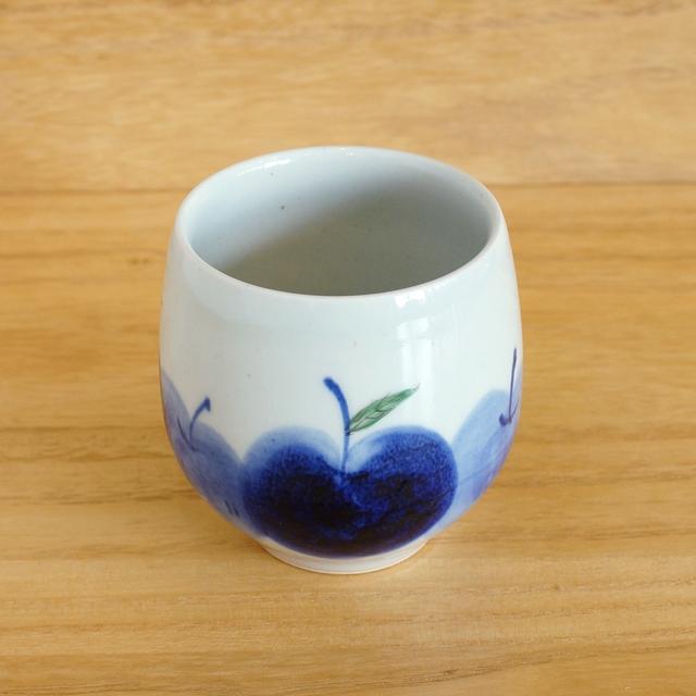 【和食器通販 金照堂】 波佐見焼敏彩窯 りんご園ロックカップ