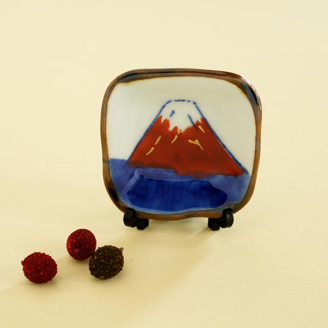 赤富士箸置き