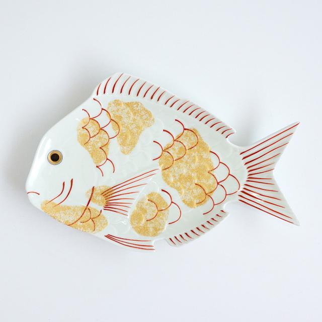 錦金叩き鯛型 大盛皿