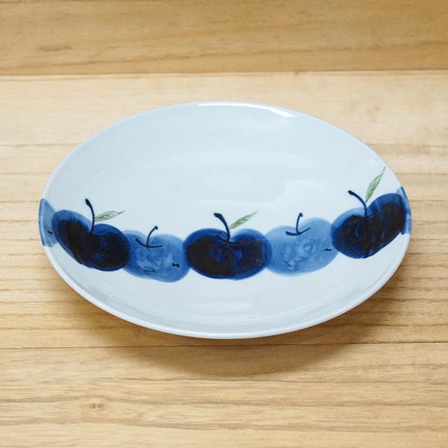 波佐見焼 敏彩窯 りんご園 7寸平皿 丸皿 リンゴ 【和食器通販 金照堂】