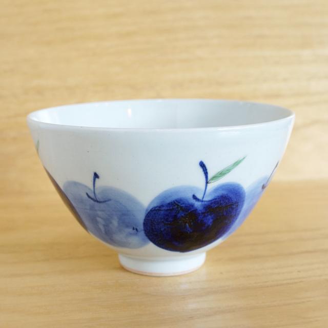 【和食器通販 金照堂】 波佐見焼敏彩窯 りんご園お茶漬け碗