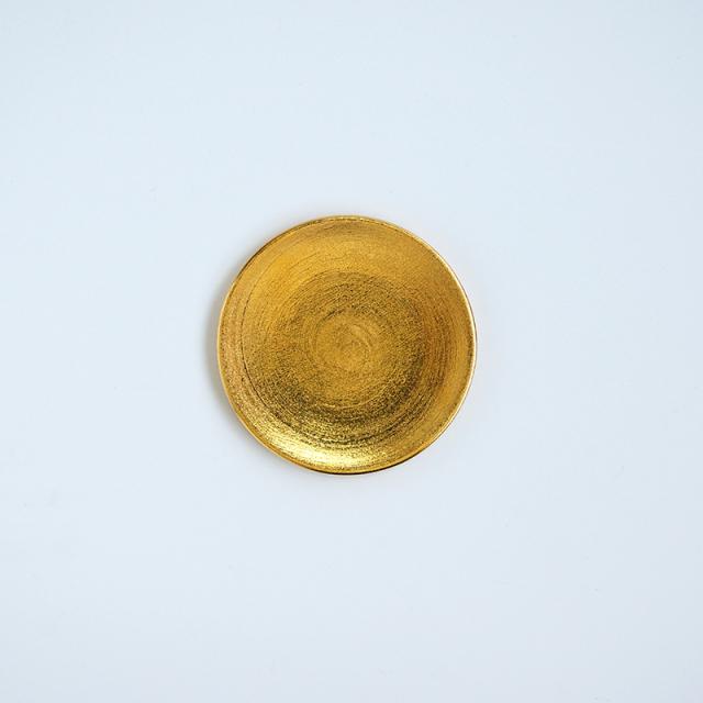 錦満月 手塩皿 (金)