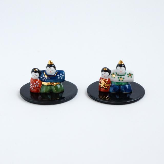 ミニ雛(丸皿付)