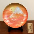 【和食器通販 金照堂】琥山窯 小野達郎作   燦彩飾皿「真朱の夜明け」