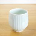 【和食器通販 金照堂】 波佐見焼 敏彩窯 青白磁ロックカップ(十草彫)