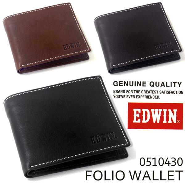 EDWIN(エドウイン) 牛革二つ折り財布 0510430