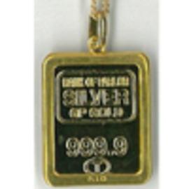 ゴールドバーペンダント