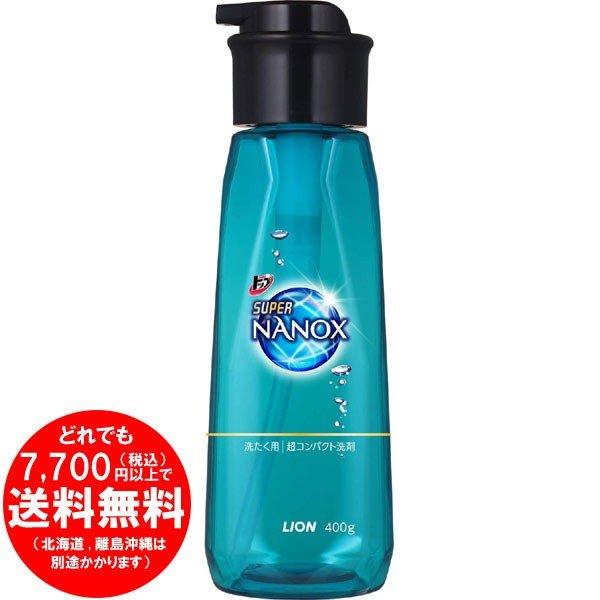 トップ スーパーナノックス 洗濯洗剤 液体 本体 プッシュボトル 400g [f]