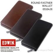 EDWIN(エドウイン) 牛革ラウンドファスナー長財布 0510428