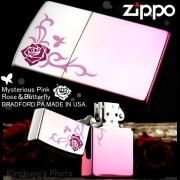 zippo オイルライターローズ&バタフライMP1-RP