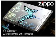 zippo オイルライター レンボーバタフライ RB1-NM