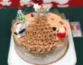 クリスマス限定100%植物性米粉チョコクリーム ホールケーキ