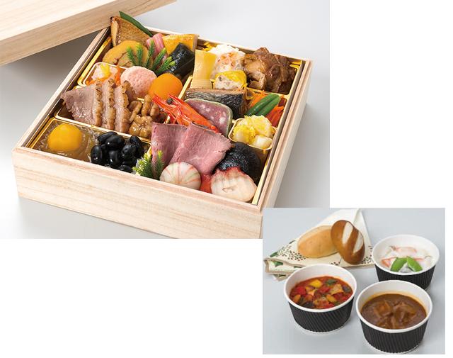 O-0150 お一人様おせち料理「慶賀」+パーティーボックス・ハーフ/ベーシック