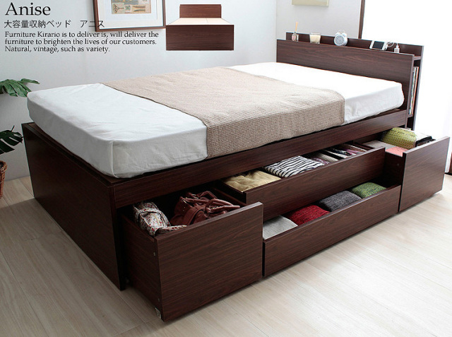 大容量収納ベッド Anise