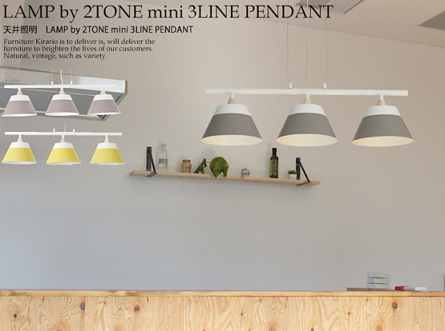 天井照明 LAMP by 2TONE mini 3LINE PENDANT
