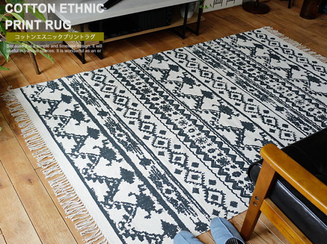 ラグマット COTTON ETHNIC PRINT RUG
