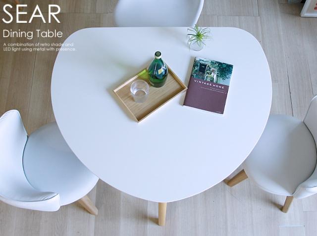 半円形ダイニングテーブル SEAR(シアー) ホワイトタイプ