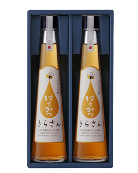 さとうきび酢 「きらさん ハチミツ」【2本入りセット】